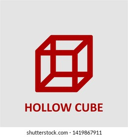 Filled hollow cube icon. Hollow cube vector illustration for graphic design. Hollow cube symbol.