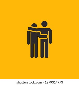 Filled homosexual super icon. Homosexual vector illustration for graphic design. Homosexual symbol.