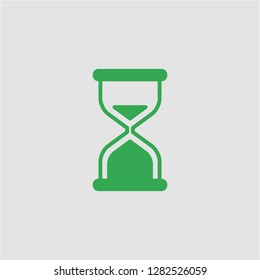 Filled hourglass super icon. Hourglass vector illustration for graphic design. Hourglass symbol.