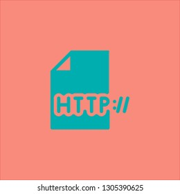 Filled http icon. Http vector illustration for graphic design. Http symbol.