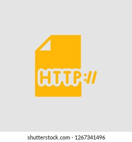 Filled http super icon. Http vector illustration for graphic design. Http symbol.