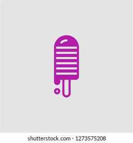 Filled ice lolly super icon. Ice lolly vector illustration for graphic design. Ice lolly symbol.
