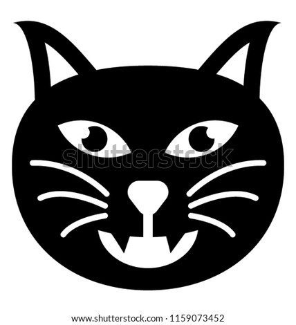 Filled Icon Cat Emoji Stock Vector Royalty Free 1159073452