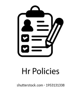 Filled icon of hr policies in editable design
