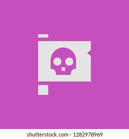Filled jolly roger super icon. Jolly roger vector illustration for graphic design. Jolly roger symbol.
