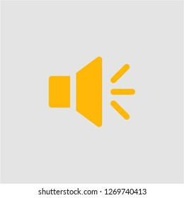 Filled loudspeaker super icon. Loudspeaker vector illustration for graphic design. Loudspeaker symbol.