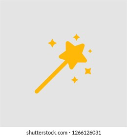 Filled magic wand super icon. Magic wand vector illustration for graphic design. Magic wand symbol.