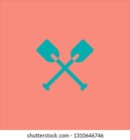 Filled oars icon. Oars vector illustration for graphic design. Oars symbol.