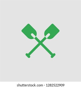 Filled oars super icon. Oars vector illustration for graphic design. Oars symbol.