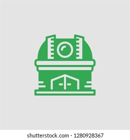 Filled observatory super icon. Observatory vector illustration for graphic design. Observatory symbol.