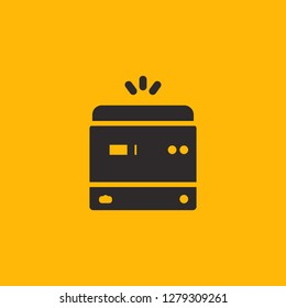 Filled photocopier super icon. Photocopier vector illustration for graphic design. Photocopier symbol.
