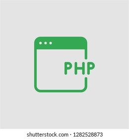 Filled php super icon. Php vector illustration for graphic design. Php symbol.