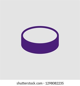 Filled puck super icon. Puck vector illustration for graphic design. Puck symbol.
