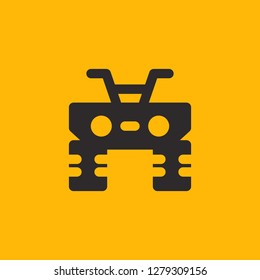 Filled quad super icon. Quad vector illustration for graphic design. Quad symbol.