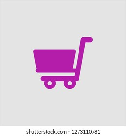 Filled shopping cart super icon. Shopping cart vector illustration for graphic design. Shopping cart symbol.