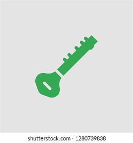 Filled sitar super icon. Sitar vector illustration for graphic design. Sitar symbol.