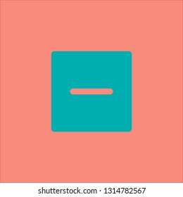 Filled subtract icon. Subtract vector illustration for graphic design. Subtract symbol.