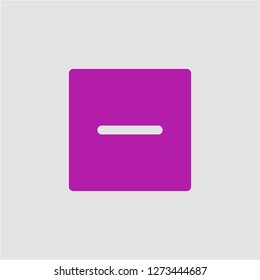 Filled subtract super icon. Subtract vector illustration for graphic design. Subtract symbol.