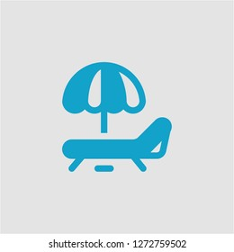 Filled sunbed super icon. Sunbed vector illustration for graphic design. Sunbed symbol.