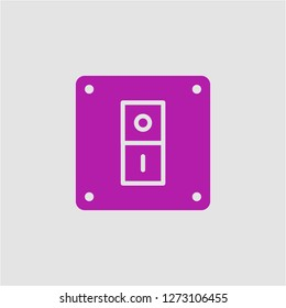 Filled switch super icon. Switch vector illustration for graphic design. Switch symbol.