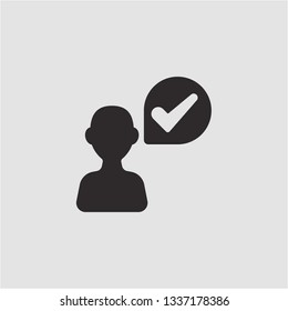 Filled verefied user icon. Verefied user vector illustration for graphic design. Verefied user symbol.