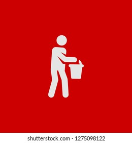 Filled water carrier super icon. Water carrier vector illustration for graphic design. Water carrier symbol.