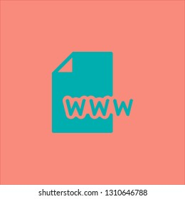 Filled www icon. Www vector illustration for graphic design. Www symbol.
