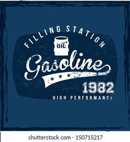 filling station over blue background vector illustration