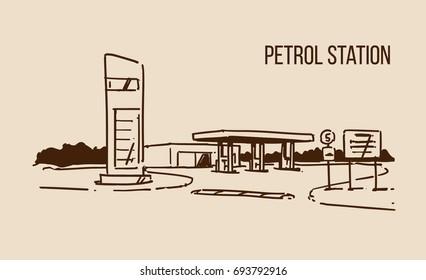 Filling Station Sketch