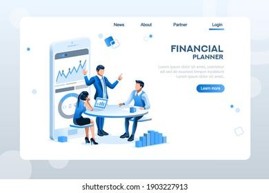 Ausfüllen von Steuerunterlagen für die Berechnung. Zeichen, die Diagramme erstellen. Rechnungslegungskonzept auf einer Cartoon-Vektorgrafik.