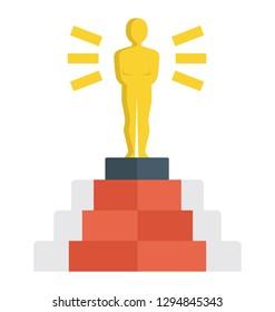 Film award, success achievement.