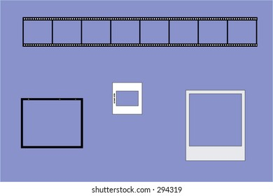 Film border -Borders are on a separate layer from the colored background.