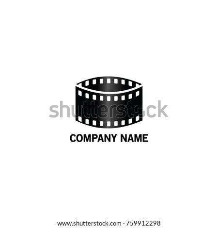 Film Company Production Logo Symbol Stock Vektorgrafik Lizenzfrei