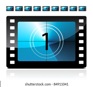 Film countdown from 1 to 9
