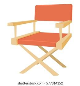 Film director chair icon. Cartoon illustration of film director chair vector icon for web