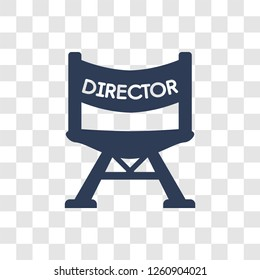 Film director icon. Trendy Film director logo concept on transparent background from Cinema collection