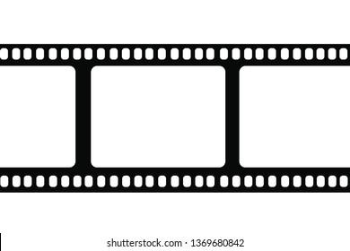 film frame on a white background. Vector illustration