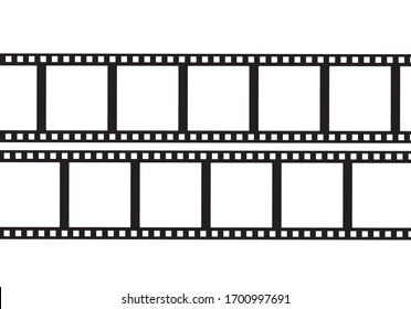 Film frame pattern for photo. Old film tape negative.
