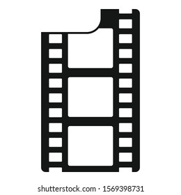 Film icon. Simple illustration of film vector icon for web design isolated on white background