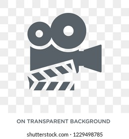 Film icon. Trendy flat vector Film icon on transparent background from Cinema collection.
