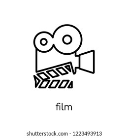 Film icon. Trendy modern flat linear vector Film icon on white background from thin line Cinema collection, editable outline stroke vector illustration