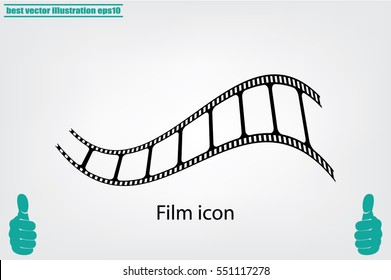 Film icon vector illustration.