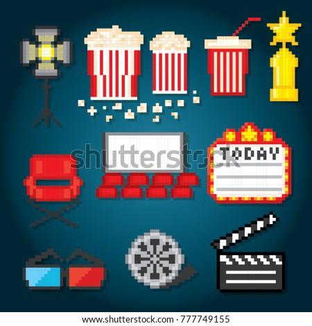 Film Industry Production Films Cinema Movie Stock Vektorgrafik