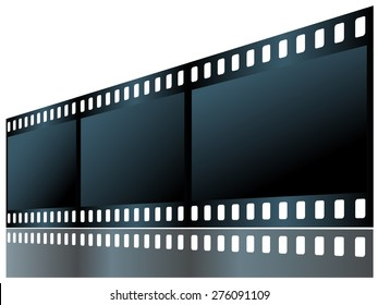 Film isolated on white background. Vector drawing.
