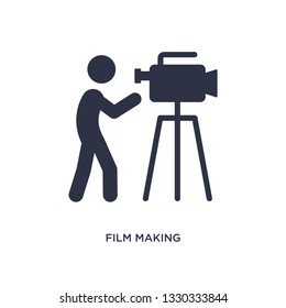 film making icon. Simple element illustration from activity and hobbies concept. film making editable symbol design on white background. Can be use for web and mobile.