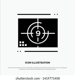 Film, Movie, Numbers, Opening, Premiere solid Glyph Icon vector