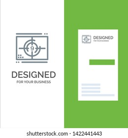 Film, Movie, Numbers, Opening, Premiere Grey Logo Design and Business Card Template