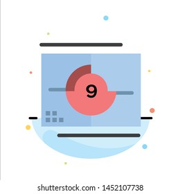 Film, Movie, Numbers, Opening, Premiere Abstract Flat Color Icon Template