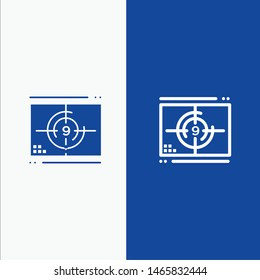 Film, Movie, Numbers, Opening, Premiere Line and Glyph Solid icon Blue banner Line and Glyph Solid icon Blue banner. Vector Icon Template background
