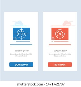 Film, Movie, Numbers, Opening, Premiere  Blue and Red Download and Buy Now web Widget Card Template
